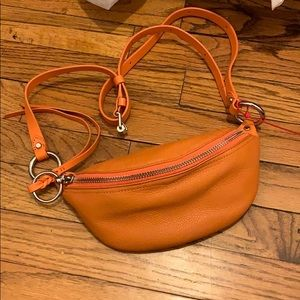 Rebecca Minkoff Orange Leather belt bag (NWT)